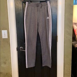 Adidas gray jogger sweatpants 18-20 XL